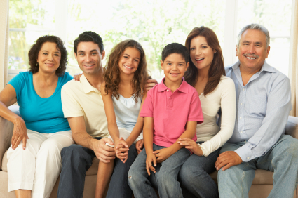 multiple generation spanish decent family